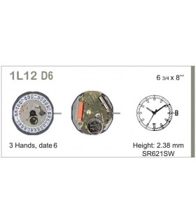 Meccanismo Orologio Ref MIYOTA L12D6