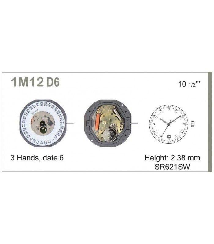 Uhrwerke, MIYOTA 1M12D6