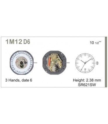 Mecanisme montre Ref MIYOTA M12D6