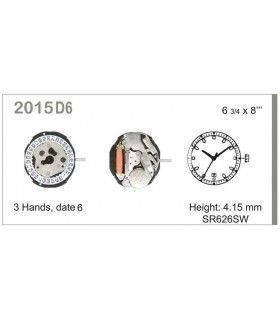 Maquinaria de reloj Ref MIYOTA 015D6