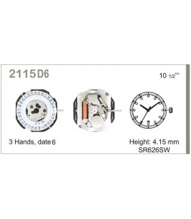Meccanismo Orologio Ref MIYOTA 115D6
