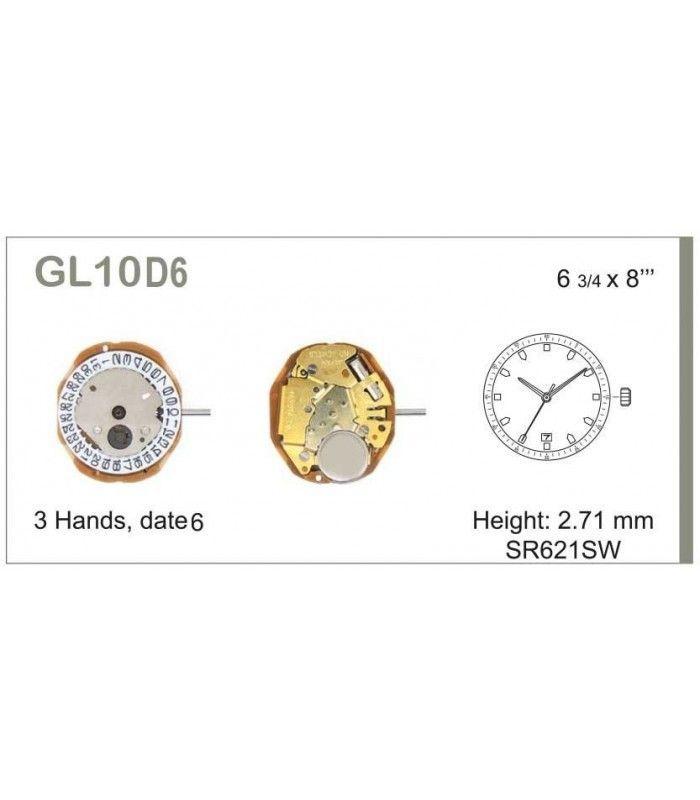 Máquina o movimiento para reloj MIYOTA GL10D6