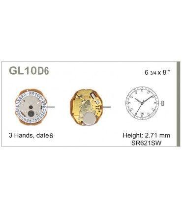 Maquinaria de reloj Ref MIYOTA L10D6