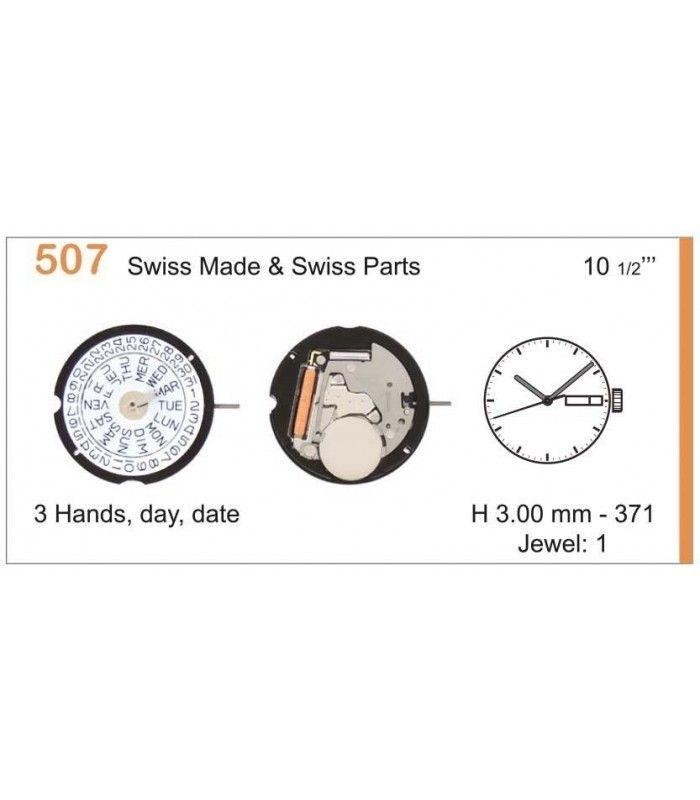 Máquinas ou movimentos para relógio, RONDA 507