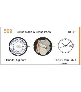 Movement for watches, RONDA 509