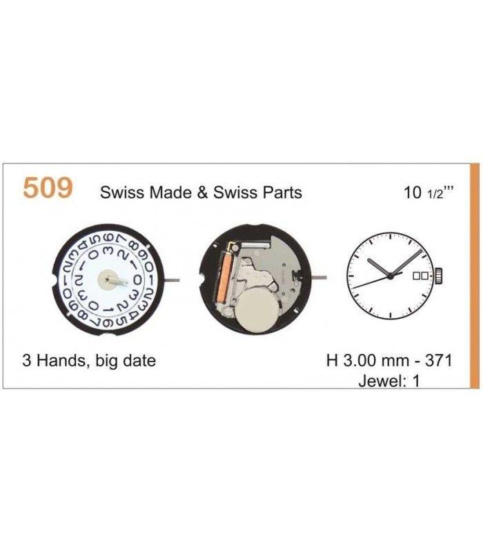Máquinas ou movimentos para relógio, RONDA 509
