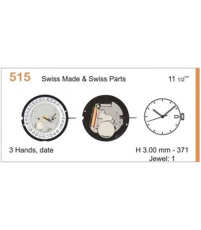 Máquinas ou movimentos para relógio, RONDA 515