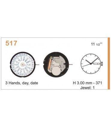 Uhrwerke Ref RONDA 517