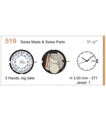 Maquinaria de reloj Ref RONDA 519