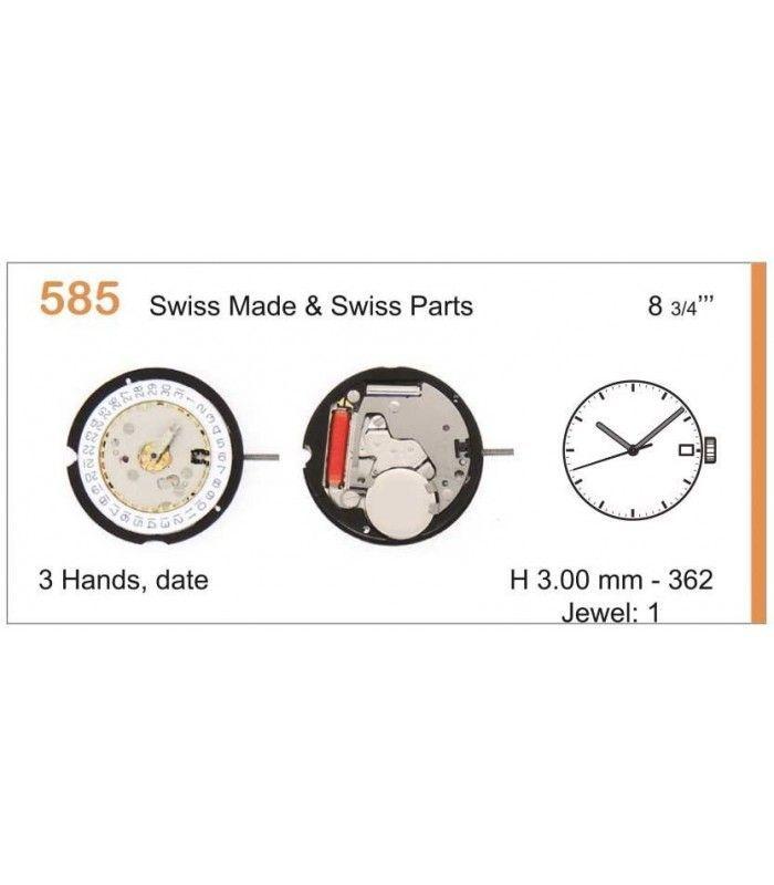 Máquinas ou movimentos para relógio, RONDA 585