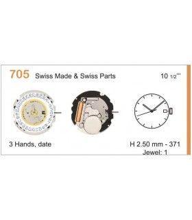 Máquinas ou movimentos para relógio, RONDA 705