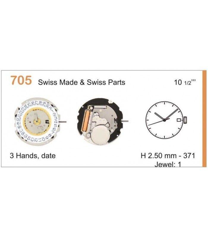 vements de montre, RONDA 705