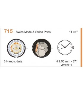 Movement for watches, RONDA 715