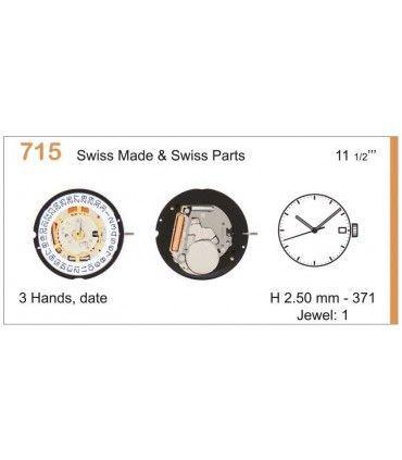 Meccanismo Orologio Ref RONDA 715