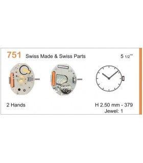 Maquinaria de reloj Ref RONDA 751