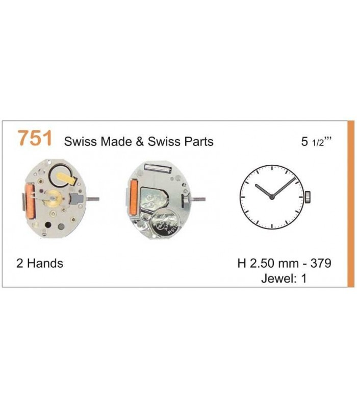 Movement for watches, RONDA 751