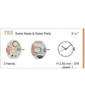 Máquinas ou movimentos para relógio, RONDA 753