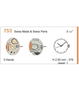 Movement for watches, RONDA 753