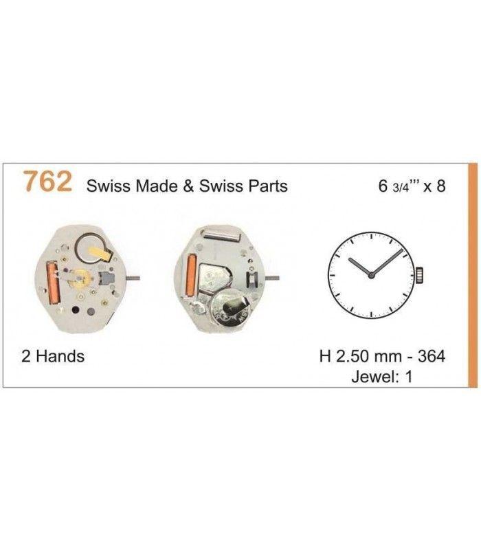 Máquinas ou movimentos para relógio, RONDA 762