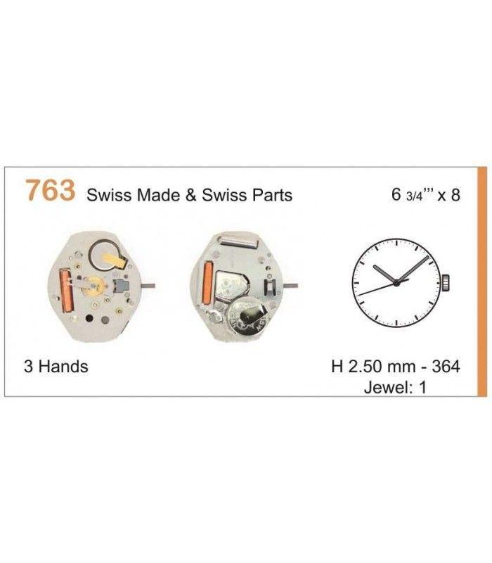 Máquinas ou movimentos para relógio, RONDA 763