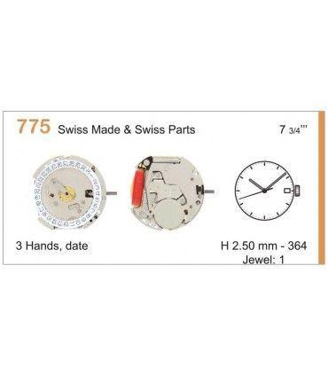 Meccanismo Orologio Ref RONDA 775