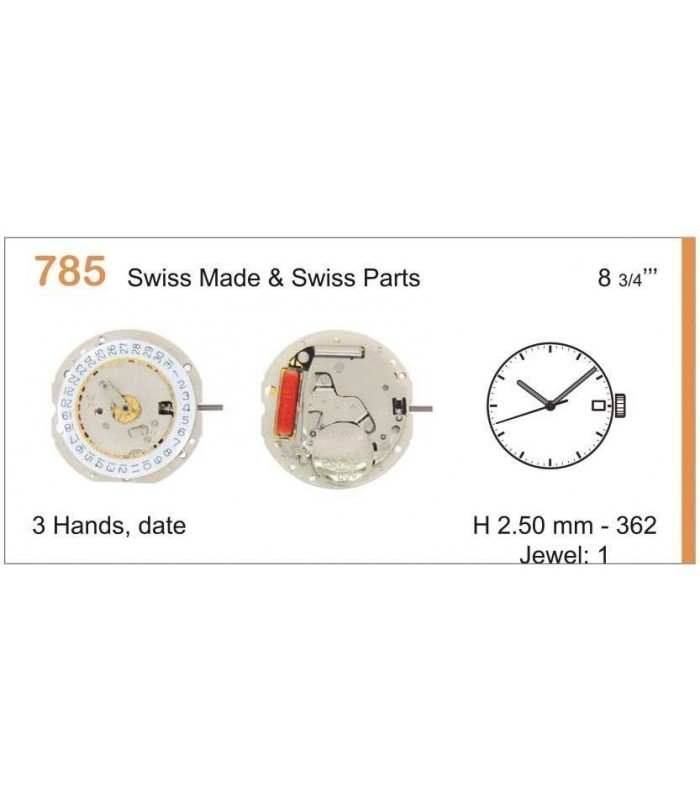 Movement for watches, RONDA 785