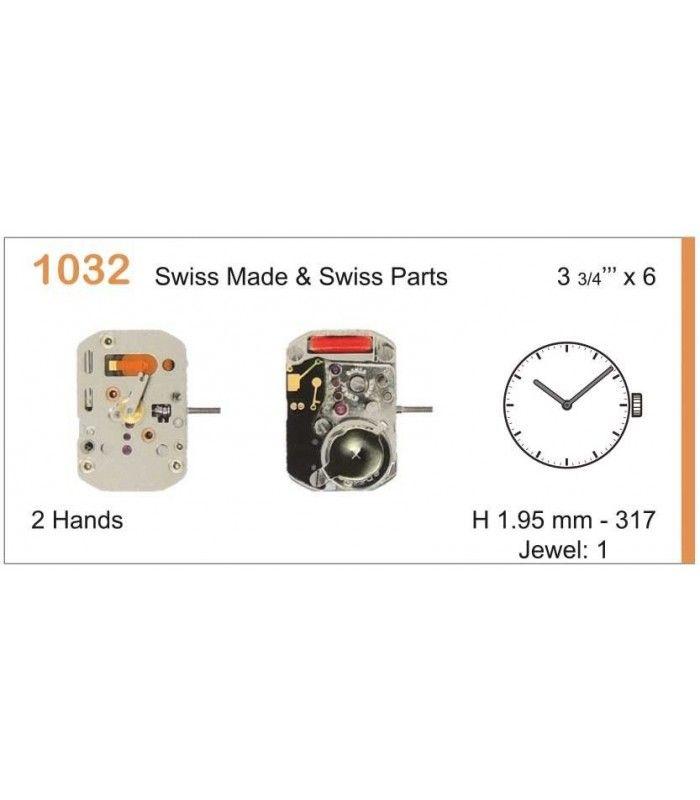 Máquinas ou movimentos para relógio, RONDA 1032