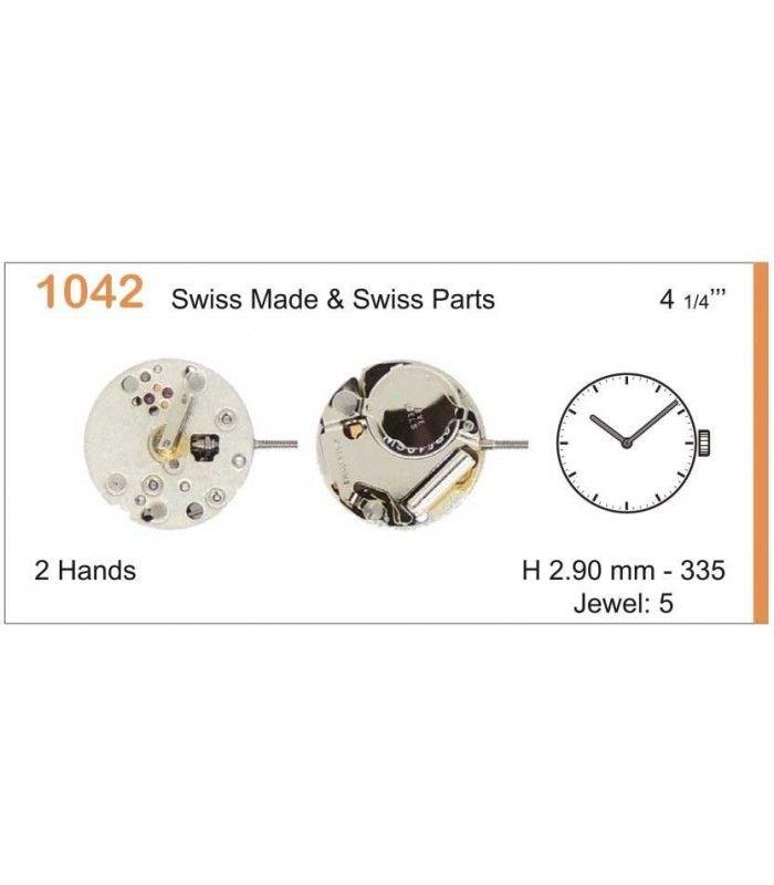 Máquinas ou movimentos para relógio, RONDA 1042