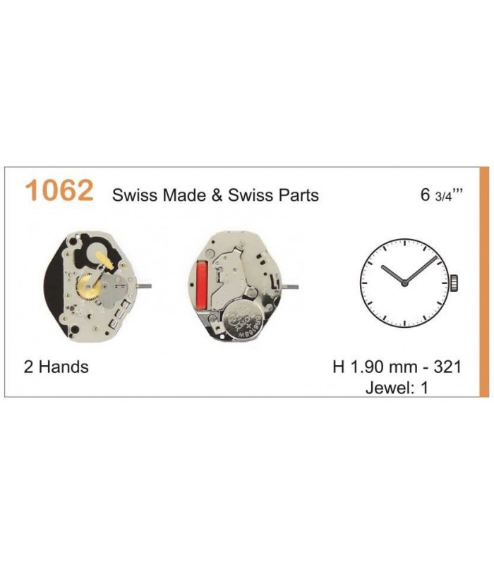 Movement for watches, RONDA 1062