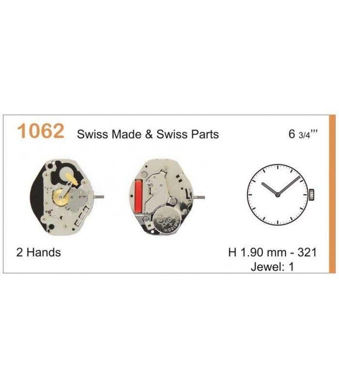 Máquina o movimiento para reloj RONDA 1062