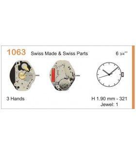 Máquinas ou movimentos para relógio, RONDA 1063