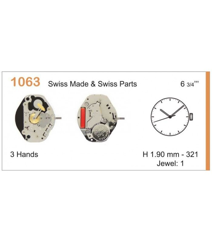 Movement for watches, RONDA 1063