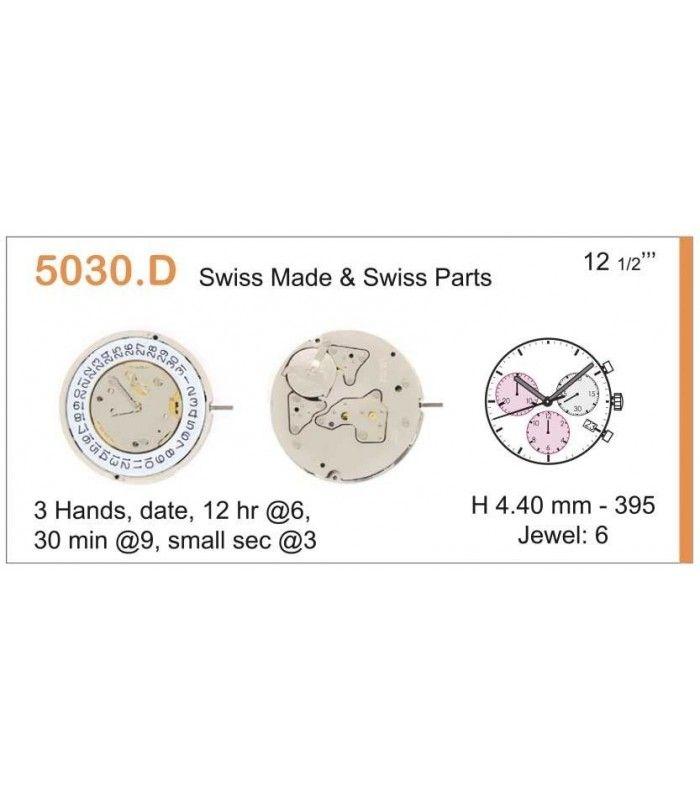 Máquinas ou movimentos para relógio, RONDA 530D