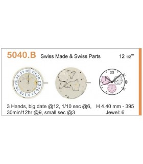 Movimento per orologi RONDA 5040B