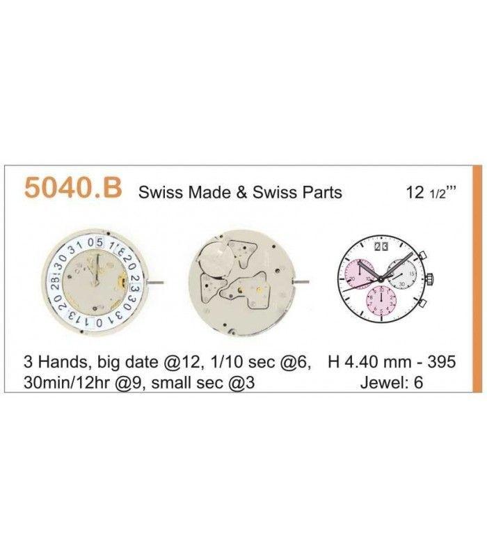 Máquinas ou movimentos para relógio, RONDA 5040B