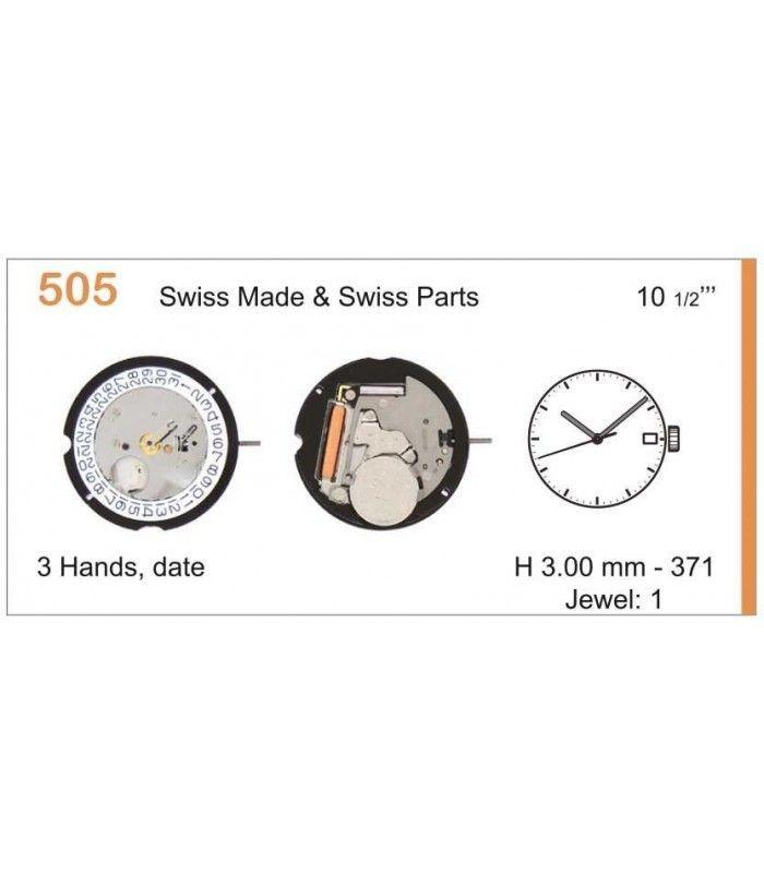 Máquinas ou movimentos para relógio, RONDA 505D3