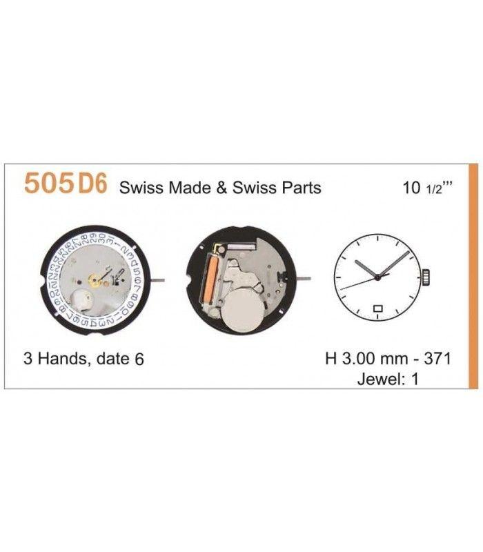 Máquinas ou movimentos para relógio, RONDA 505D6