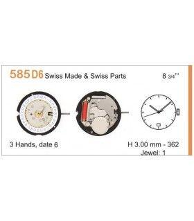 Máquina o movimiento para reloj RONDA 585D6
