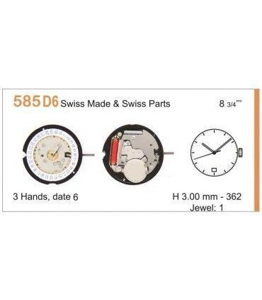 Maquinaria de reloj Ref RONDA 585D6