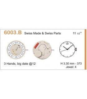 Máquina o movimiento para reloj RONDA 6003B