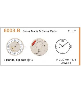 Uhrwerke Ref RONDA 6003B