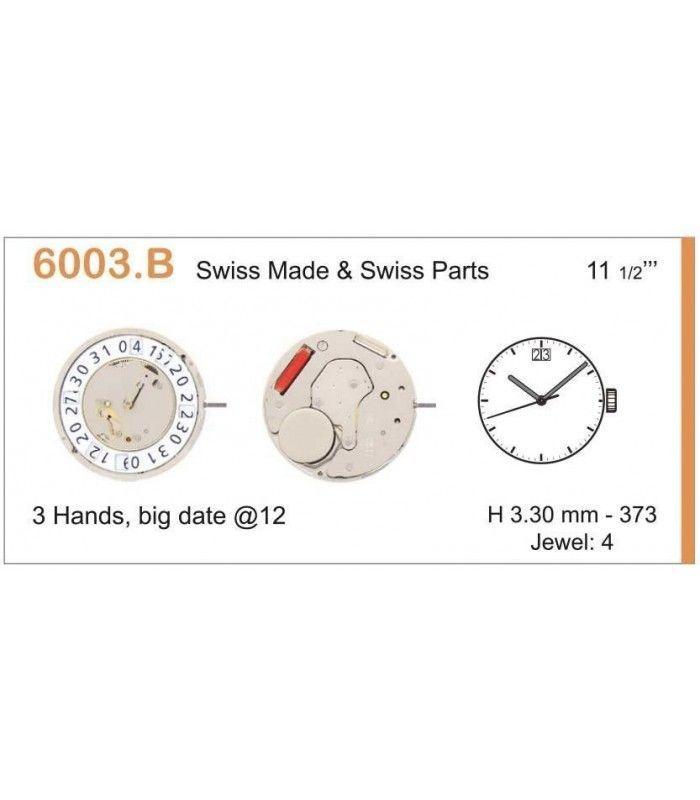 Máquinas ou movimentos para relógio, RONDA 6003B