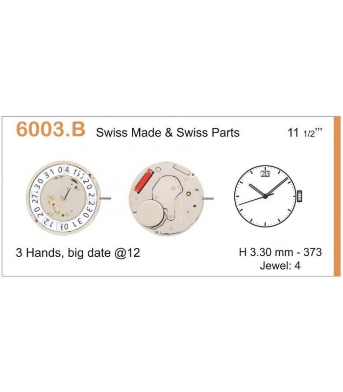 Movement for watches, RONDA 6003B
