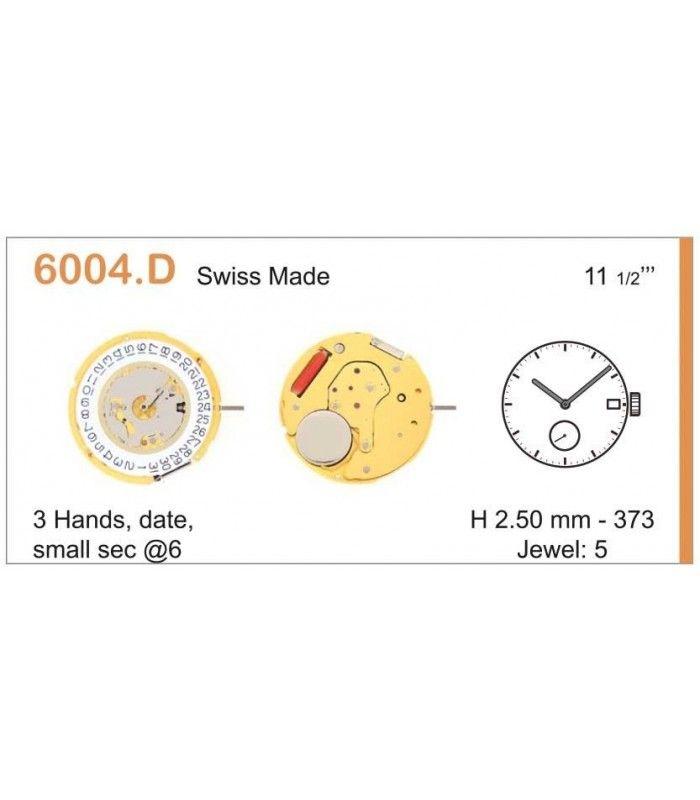 Máquinas ou movimentos para relógio, RONDA 6004D