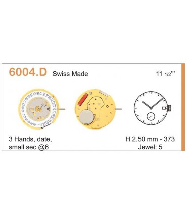 Mecanisme montre Ref RONDA 6004D
