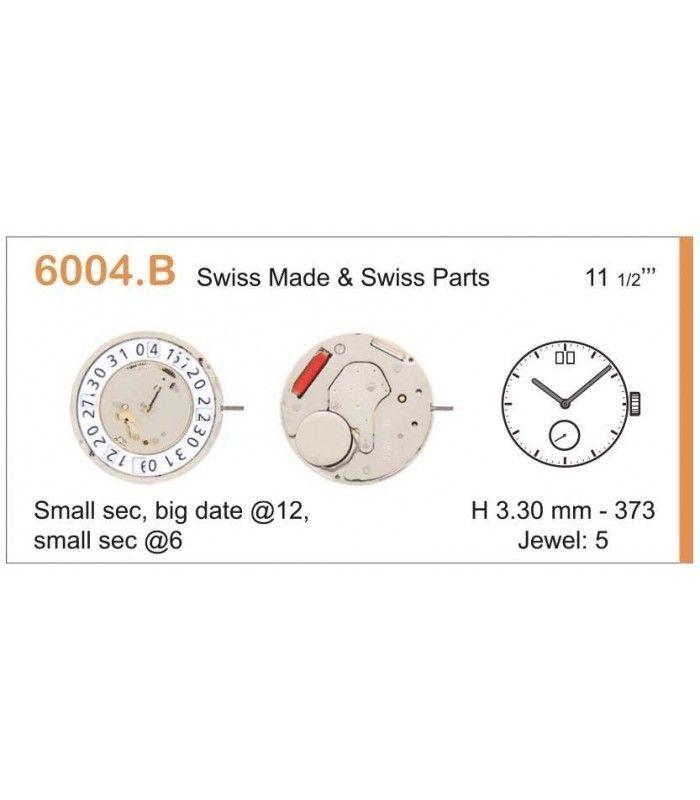 Máquinas ou movimentos para relógio, RONDA 6004B