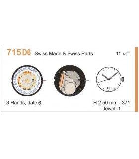 Maquinaria de reloj Ref RONDA 715D6