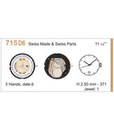Uhrwerke Ref RONDA 715D6