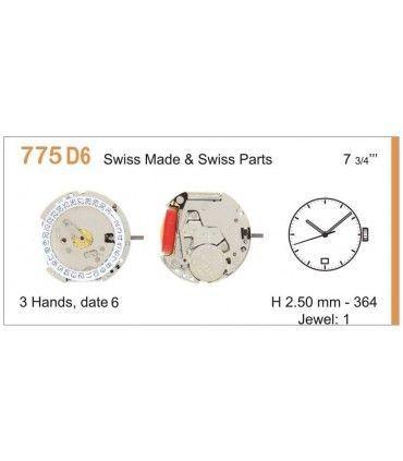 Maquinaria de reloj Ref RONDA 775D6