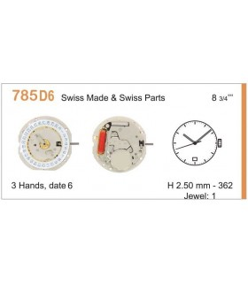 Watch Movement RONDA 785D6